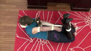 Elizabeth Andrews - Hogtied in Boots and Jeans [2021,Bondage,Rope,BDSM][Eng]