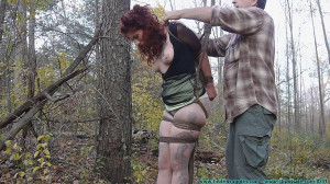 HD Bdsm Sex Videos The Woods and Tree Tied Part 2 [2020,FutileStruggles,Gagging,Rope Bondage ,All Natural ][Eng]