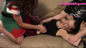 Kalesies Held Down on The Couch and Tickled By Savannah [Eng]