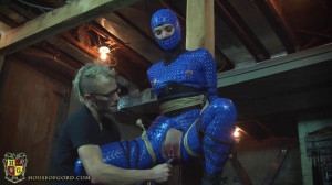 The Pussy Suspension [2017,catsuits,hoods,rope bondage][Eng]