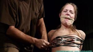 Rachel's Mummified Chair Suspension - Part 2 [2019, posture collar, gags, mummification][Eng]