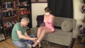 Elizabeth Andrews - Bound In A Shiny Pink Girdle [2021,Bondage,BDSM,Rope][Eng]