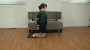 Elizabeth Andrews - Bound Pantyhose Tease [2021,Bondage,Rope,BDSM][Eng]
