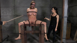 Broken Blonde Part 2 - Rain DeGrey | Ashley Lane [Calf Caning,Nose,Caning][Eng]