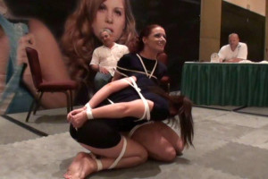 Yvette Costeau and Fayth Bondage Escape Contest - Round 1 [2019,BDSM,Rope,torture][Eng]