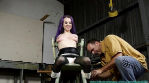 Fiona's First Shoot - Part 1 [2019,nipple clamps, posture collar, Petite][Eng]