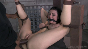 Sexy brunette strictly gagged and bound then assfucked by huge hard cock [2014,Anal Sex,Fingering,Pink Finger Nails][Eng]