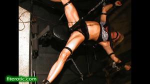 Female Muscle Edging Predicament [BDSM,torture,Bondage][Eng]