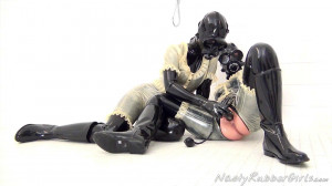 Rubber Layers, Gas Mask Dressing, Inflatable Dildo Part Two [Eng]