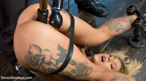 Super Sexy ALT Pain Slut Captured in Brutal Bondage and Tormented [Kink: Device Bondage,Kleio Valentien][Eng]