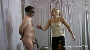 Extrmely Cruel Face Slapping clip with Milking humiliation [2017,FemDom,Face Slapping,Cum Milking][Eng]