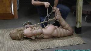 I Try Out My New M0Co Jute and Hood on Rachel 3 part - Extreme, Bondage, Caning [2019,Big Ass,Domination,Torture][Eng]