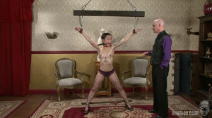 Tight bondage, spanking and strappado for sexy young model [2019][Eng]