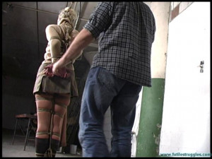 He gave me his wife to do with as I please - Part 1 [2020, pantyhose, sweaters, gags][Eng]