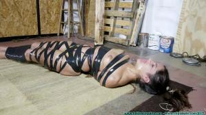 Chi Chi Medina Oiled, Crotch Roped Then Crotch Taped Part 3 [Eng]