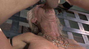 Stunning Simone Sonay punishing deepthroat while vibrated! [2014,Rope Bondage,BDSM,Submission][Eng]