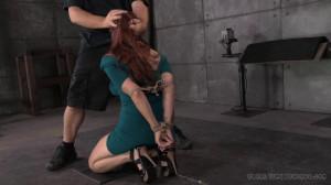 Busty Bella Rossi takes on 2 cocks! [2014,Rope Bondage,Bondage,Domination][Eng]