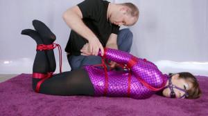 RestrictedSenses Scene Rs-227 – Purple Mermaid Bodysuit and Red Rope [Eng]