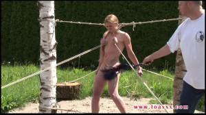 Tight bondage, spanking and torture for naked slavegirl part2 [2019][Eng]