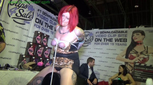 Sybian fun at Bound Con Munich [2020,Shelly Frayja,sybian,Damsel in Distress,tied elbows][Eng]