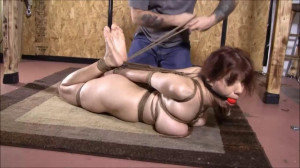 Tight bondage, hogtie and strappado for hot sexy slavegirl [2020][Eng]