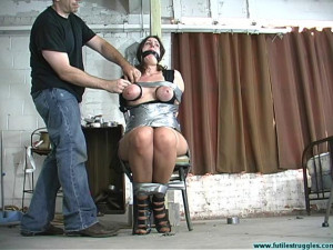 Karin Sin ChairTaped, Breasts Taped, PoleTied, Crotchroped [Eng]