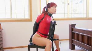 Chair Bound in Red Thong Bodysuit [RestrictedSenses,Mina,Bondage][Eng]