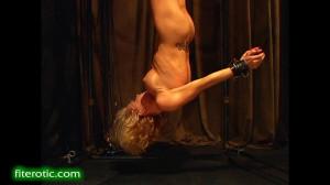 Muscle Blonde Suspension [Bondage,Rope,torture][Eng]