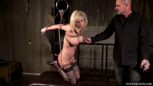 Super bondage, strappado and torture for very hot blonde part3 [2019][Eng]