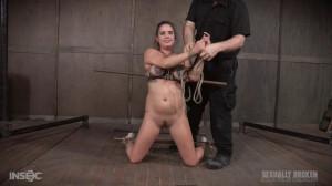 Tattooed slave enjoys dominate fuck [2017,Scarlet De Sade,Choking,Deepthroat,Blowjob][Eng]