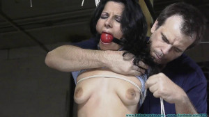 Hannah Perez Carried, Groped, Hogtied, and Gagged Multiple Times - Part 1 [2020, Petite, jeans, spread eagle][Eng]