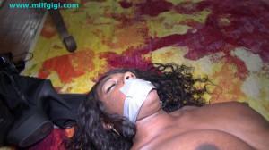Ebony dominatrix bound with male submissive [2021,Rope,Bondage,BDSM][Eng]