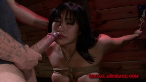 Mia Li's Rough Deep Throat Disgrace [Eng]
