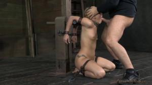 AJApplegate Shackled And Blindfolded, Facefucked With Brutal Challenging Deepthroat! [2014,Rope Bondage,Submission,BDSM][Eng]