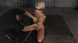 Big titted blonde Courtney Taylor bound blindfolded and facefucked! [2014,Submission,Blonde,Blonde Slave Training][Eng]
