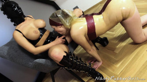 Girl Behind The Rubber Mask And Rubber Nun [Eng]