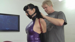 Nyxon - Busty Brunette Secretary Trained in Latex and Leather [2021,Bondage,Rope,BDSM][Eng]