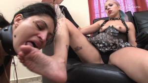 Barbara Costa's Feet Worship - Karina and Barbara Costa [Eng]