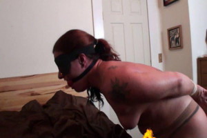 Topless Hogtied Struggling by Thief [2019,torture,Rope,BDSM][Eng]