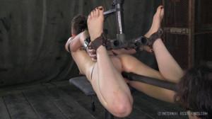IR - Stuck in Bondage - Hazel Hypnotic, Cyd Black [2014,Hazel Hypnotic,Domination,Humilation,Fetish][Eng]