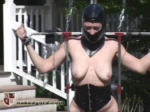 Butt Thrust Walker [2017,House of Gord,Darling Lydia McLane,gags,metal bondage,exercise][Eng]