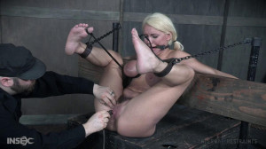 Strapped To A Board Kenzie Drools All Over Herself. [2017,Rope Bondage,Domination,Torture][Eng]