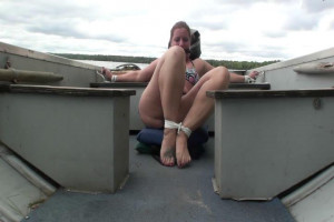 Fayth Bound and Bitgagged on Boat [2019,Rope,BDSM,Bondage][Eng]