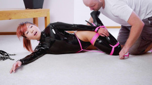 RestrictedSenses Part Rs-298 - Black Stretch Bodysuit Hogtie [Eng]