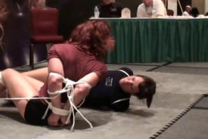 Yvette Costeau and Fayth Bondage Escape Contest - Round 3 [2019,torture,Rope,Bondage][Eng]