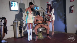 The Slave on the Dentist Chair [2020,Femdom,Strapon,Humiliation][Eng]