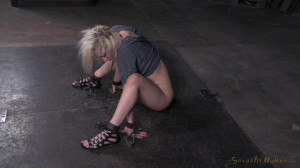 Bdsm Porn Videos Blonde chained down and trained by BBC, rough fucking [2015,SexuallyBroken,Cherry Torn,Whipping,BDSM,Humiliation][Eng]
