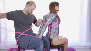 Sparkly Bodysuit Hogtie Fail [2016,Mina,Bondage][Eng]