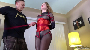 Tight bondage, domination and hogtie for sexy young model [2020][Eng]