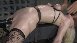 Beautiful Blonde Ella Nova Bound Dildoed And Deepthroated [Sexuallybroken][Eng]